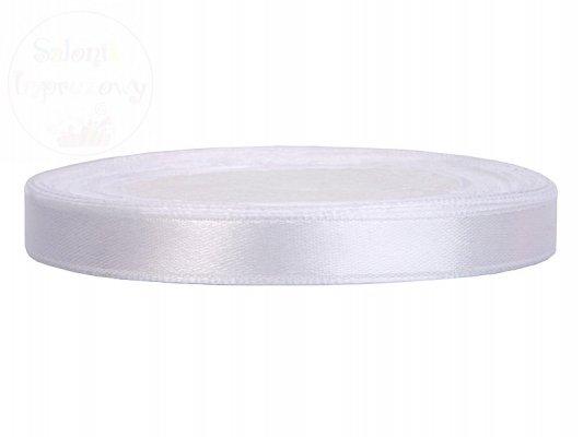 Tasiemka satynowa biała 6mm/25m