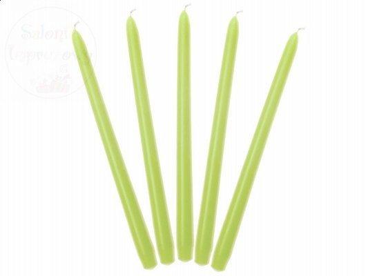 Świeczki  stołowe jasnozielone 24 cm 1szt