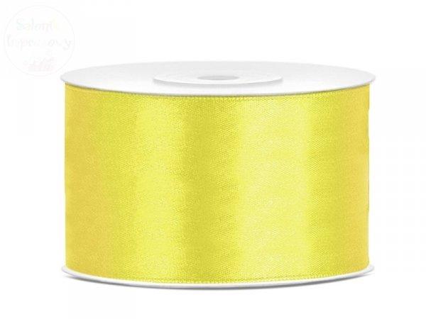 Tasiemka satynowa żółta 38 mm x 25 m