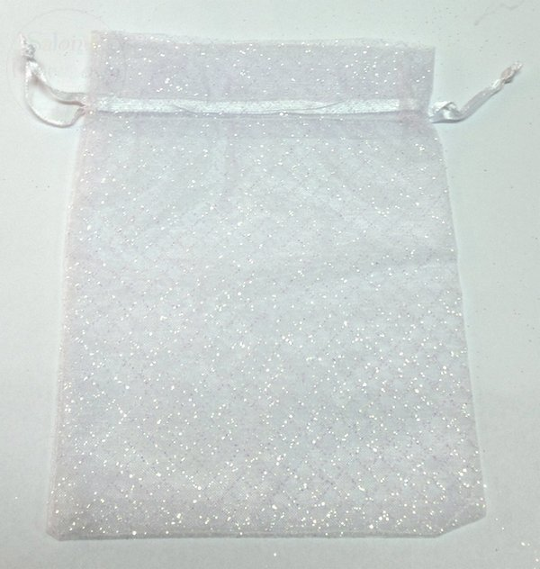 Torebka materiałowa tiulowa z brokatem