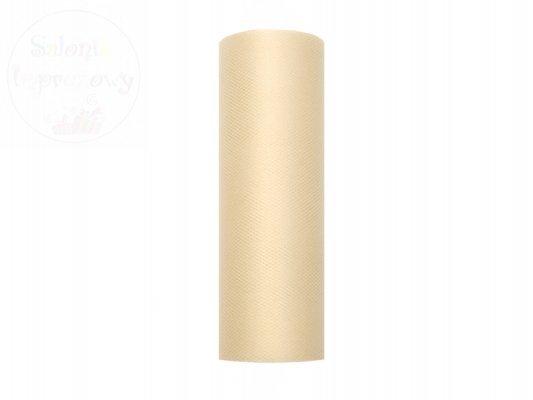 Tiul na szpulce 15cmx9m kremowy TIU15-079