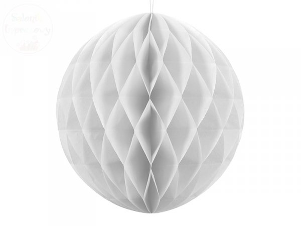 Kula bibułowa biała 40 cm