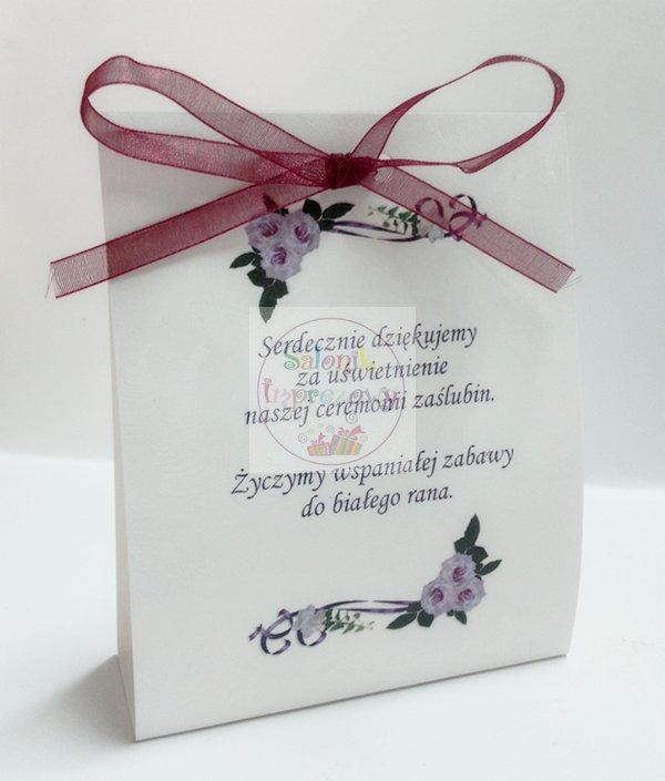 """Winietki duże """"Fioletowe kwiaty"""" 1szt"""