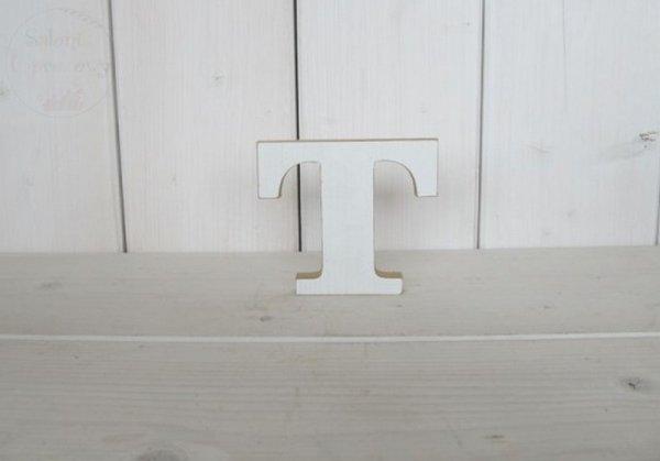 """Litera drewniana wys. 18 cm """"T"""" 1szt"""