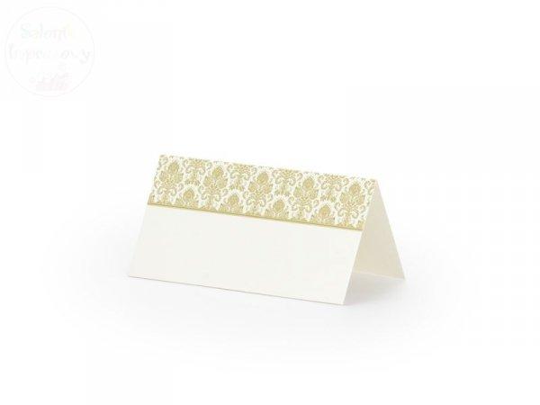 Wizytówki na stół ze złotym ornamentem WS43 / szt
