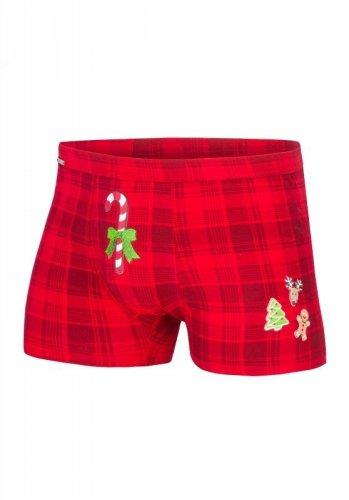 Bokserki Cornette 017/42 Candy Cane Merry Christmas