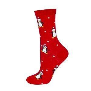 Skarpety Soxo Świąteczne damskie z kokardką