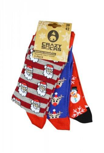 Skarpety Crazy Socks Xmas/ASS 2 Bio A'3