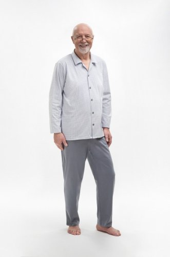 Piżama Martel Antoni 403 dł/r M-2XL Rozpinana