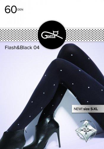 Rajstopy Gatta Flash & Black wz.04 60 den 5XL