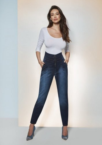 Spodnie Bas Bleu Lynda 300 den M-XL