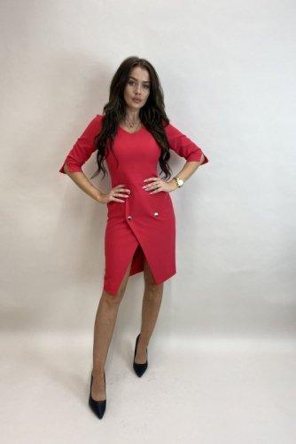 sukienka z asymetryczną zakładką