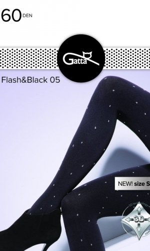 Rajstopy Gatta Flash & Black wz.05 60 den 2-4