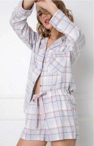 Piżama flanelowa z szortami Aruelle Amalia Short