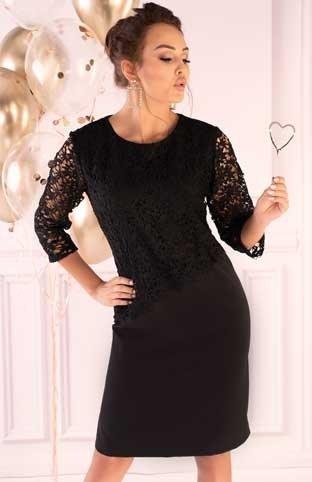 Sukienka mała czarna Hantari Merribel plus
