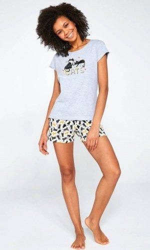 Piżama Cornette 628/194 Cats kr/r S-2XL damska