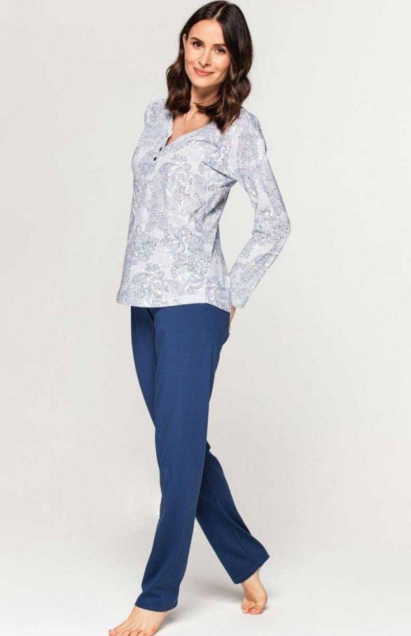 Piżama damska Cana 2XL niebieska