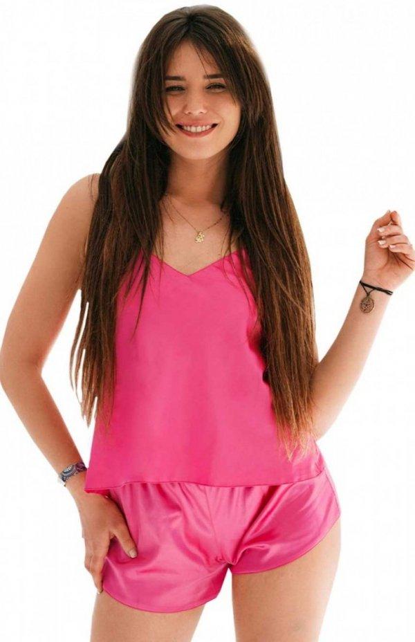 piżama satynowa dkaren karen różowa