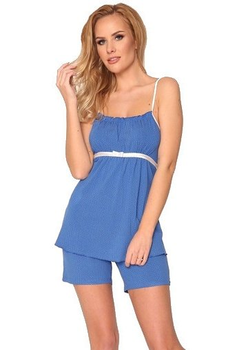 piżama damska de lafense kropki 915 chaber