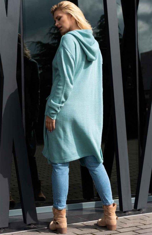 Sweter rozpinany Merribel Amaral miętowy
