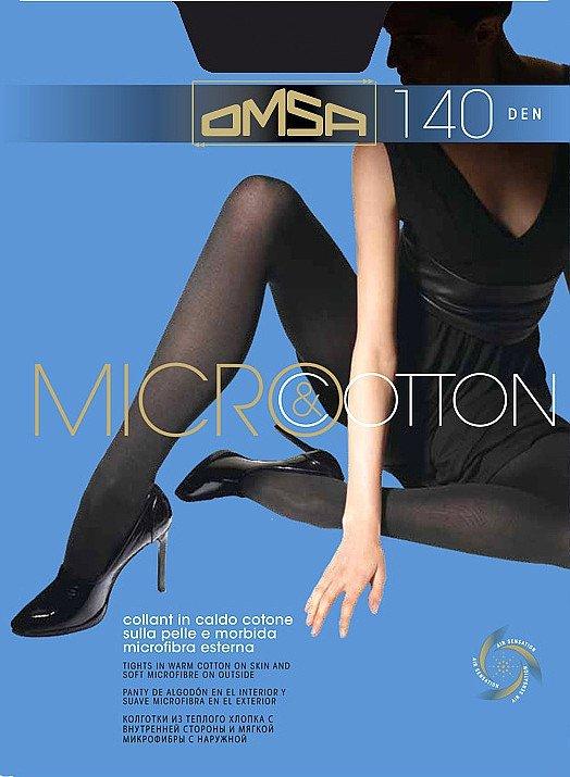 Rajstopy Omsa Micro&Cotton 140 den
