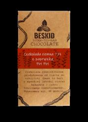 Czekolada ciemna 73% z dodatkiem papryczek Piri Piri, 50g, Beskid Chocolate