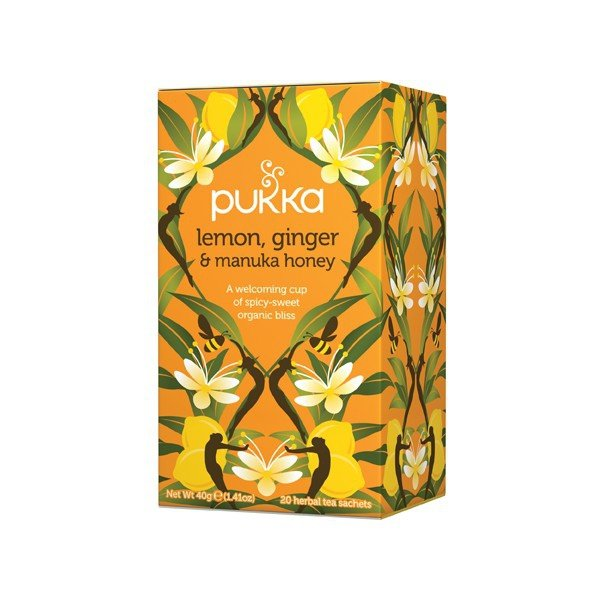Herbata Lemon, Ginger&Manuka Honey - Pukka, 20 saszetek