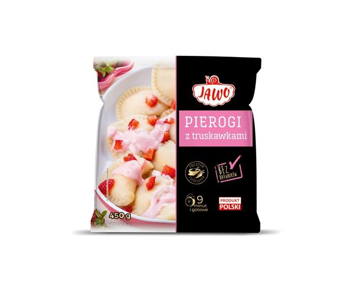 [JAWO] Pierogi z truskawkami 450g 10 szt w kartonie