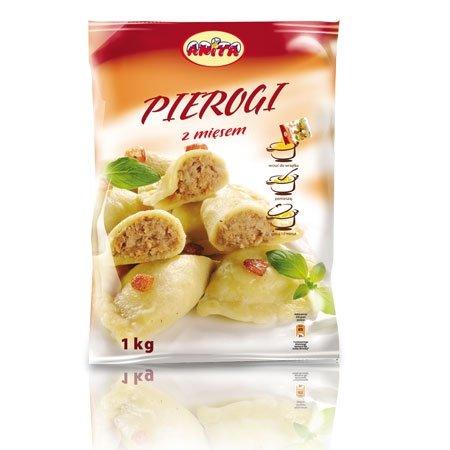 [ANITA] Pierogi z mięsem 1kg/12szt