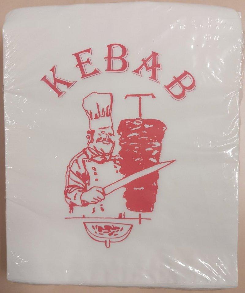 """[OPAKOWANIA] Koperta """"kebab"""" papierowa 250 szt"""