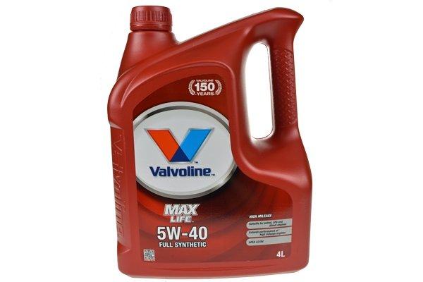 VALVOLINE MAXLIFE 5W40 4L