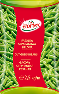 1229 CA Hortex Fasolka zielona 2,5kg 1x4