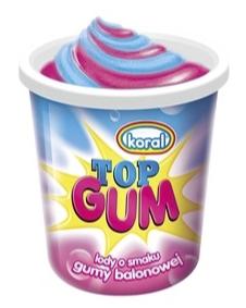 Lody Koral Kubek Top Gum  150ml 1x24