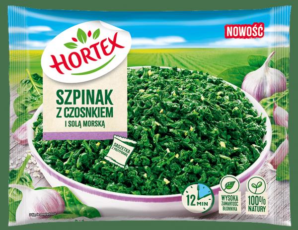 1245 Hortex Szpinak z czosnkiem i sola 400g 1x14