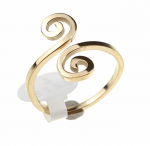 ring 17,60mm gold stainless steel