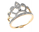 gold ring 20,30mm. gold-plated engagement xuping