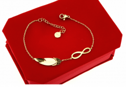 BRACELET GOLD CELEBRITY STAINLESS STEEL