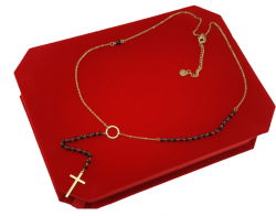 GOLD CHAIN NECKLACE celebrity STAINLESS STEEL ROSARY