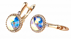 exclusive swarovski gold-plated earrings