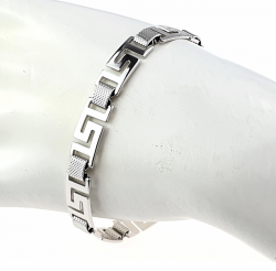 SILVER BRACELET PLATED WITH WHITE GOLD
