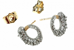 gold plated earrings with exclusive cubic zirconia