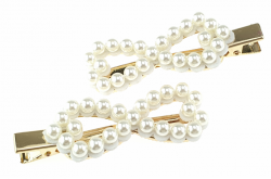 1268 1x spinka z białymi perłami