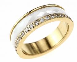 1935e pierścionek 17,30mm porcelana stal chirurgiczna