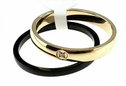 1936j pierścionek 20,60mm porcelana stal chirurgiczna