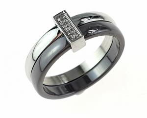 ring. 19,00mm porcelain. Stainless steel
