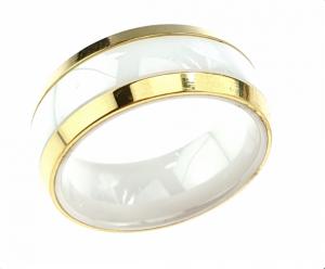 1202b pierścionek 16,60mm porcelana stal chirurgiczna