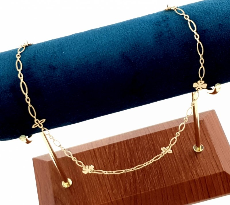 1166 Złoty łańcuszek celebrytka naszyjnik stal chirurgiczna Blueberry
