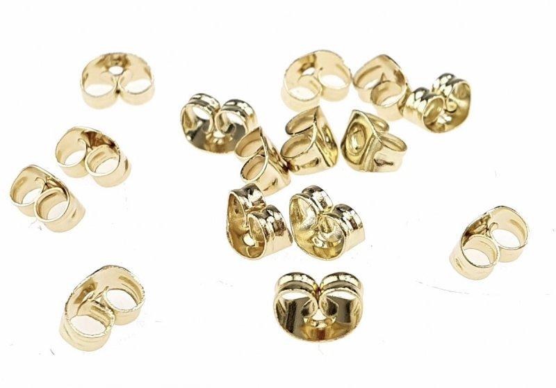 346a 2x złote pozłacane ze stali nierdzewnej 316l zatyczki baranki do kolczyków