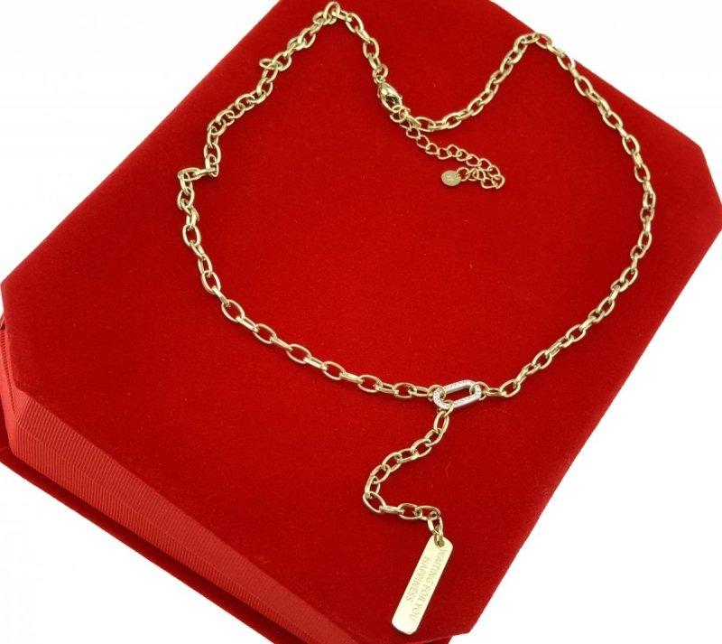 0935 Złoty łańcuszek celebrytka naszyjnik stal chirurgiczna