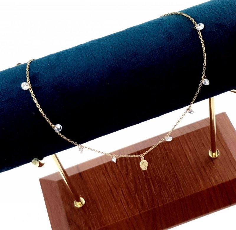 533g Złoty łańcuszek celebrytka 45cm naszyjnik stal chirurgiczna